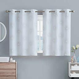 Hookless® Sunburst 45-Inch Window Curtain Panel in Metallic Gold