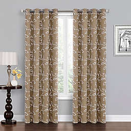 Asheville 63-Inch Grommet 100% Blackout Window Curtain Panel in Linen/White