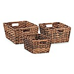 Seville Classics® Hand-woven Storage Baskets in Mocha (Set of 3)