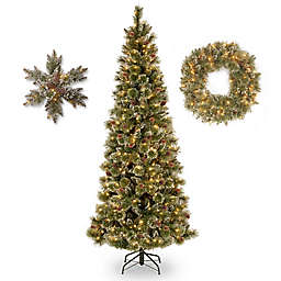 National Tree Company Glittery Bristle Pine Collection