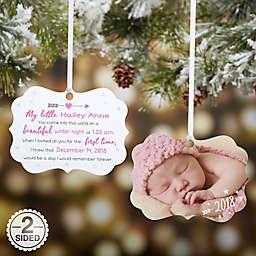 Baby Resume Birth Info Personalized Photo Ornament
