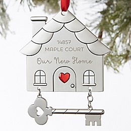 Happy New Home Personalized Ornament