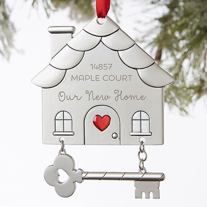 Alternate image 1 for Happy New Home Personalized Ornament