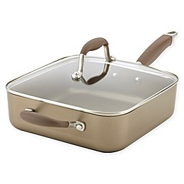 Anolon® Advanced™ Nonstick 4 qt. Hard-Anodized Covered Square Saute Pan in Umber
