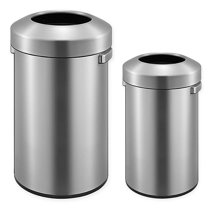 Alternate image 1 for Eko® Urban Commercial Stainless Steel Open Top Trash Can