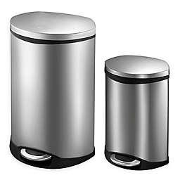 Eko® Shell Stainless Steel Step Trash Can