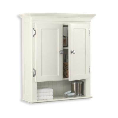 Fairmont wall mounted cabinet in white bed bath beyond - Wall mounted bathroom cabinets white ...