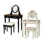 Linon Home Darlington Vanity And Bench Set Bed Bath And Beyond Canada
