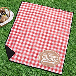 Picnic Plaid Personalized Picnic Blanket