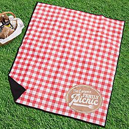 Picnic Plaid Personalized Picnic Blanket