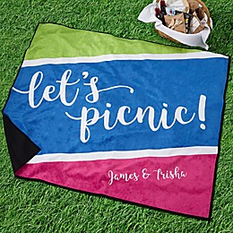 Summer's Here Personalized Picnic Blanket