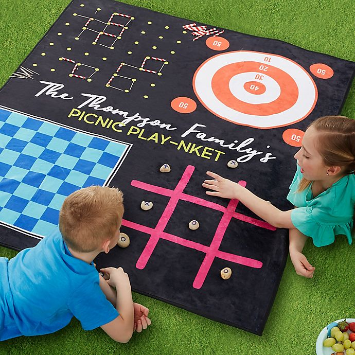 Alternate image 1 for Games Galore Personalized Picnic Blanket