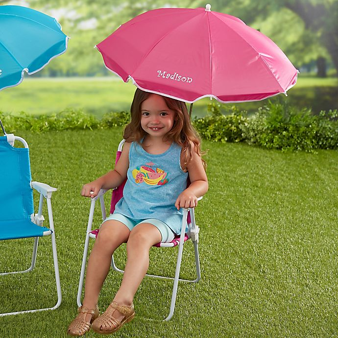 Beach Chair Personalized Umbrella Set