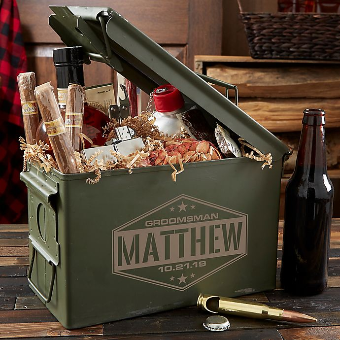 Alternate image 1 for Groomsman Personalized Ammo Can