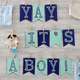 Write Your Own Personalized Baby Bunting Banner