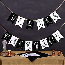 Write Your Own Personalized Wedding Bunting Banner