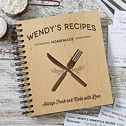 Farmhouse Kitchen Recipe Book in Brown