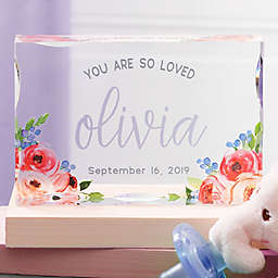 Floral Baby Girl Personalized Colored Keepsake