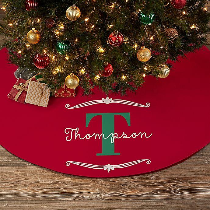 Alternate image 1 for My Name & Monogram Personalized Christmas Tree Skirt