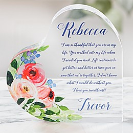 Write Your Own Romantic Colored Personalized Heart Keepsake