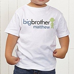 Big/Baby Brother & Sister Personalized Toddler T-Shirt