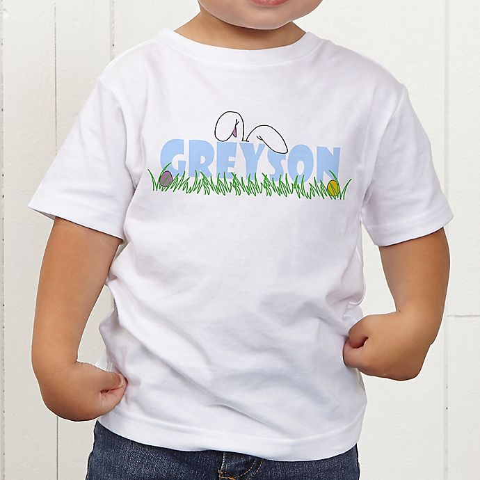 Alternate image 1 for Ears To You Easter Personalized Toddler T-Shirt
