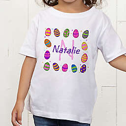 Colorful Eggs Personalized Toddler T-Shirt