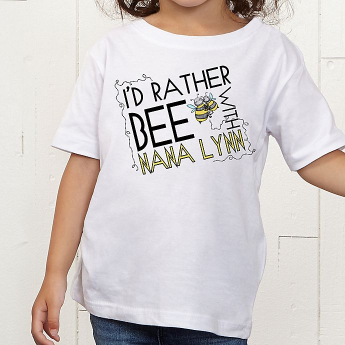 Alternate image 1 for I'd Rather Bee With... Personalized Toddler T-Shirt