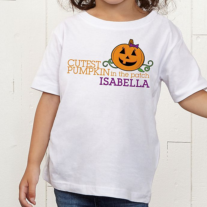 Alternate image 1 for Cutest Pumpkin In The Patch Personalized Toddler T-Shirt