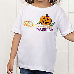 Cutest Pumpkin In The Patch Personalized Toddler T-Shirt