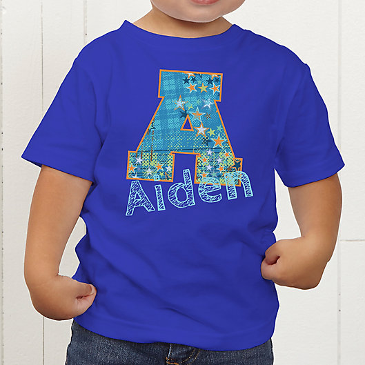 Alternate image 1 for His Name Personalized Toddler T-Shirt