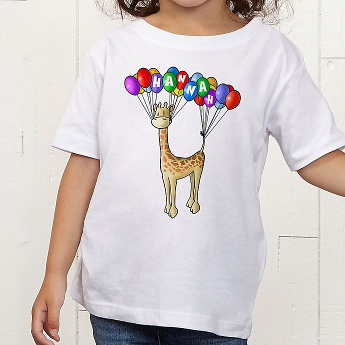 Alternate image 1 for Floating Zoo Personalized Toddler T-Shirt