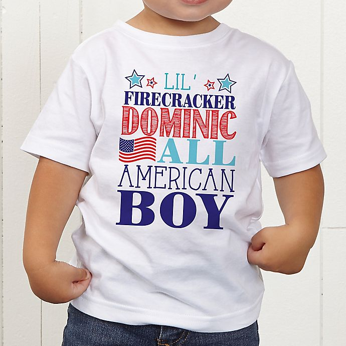 Alternate image 1 for Red, White and Blue Personalized Toddler T-Shirt