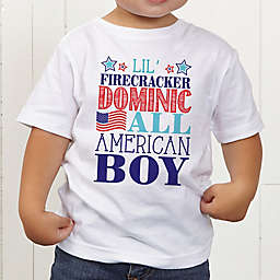 Red, White and Blue Personalized Toddler T-Shirt