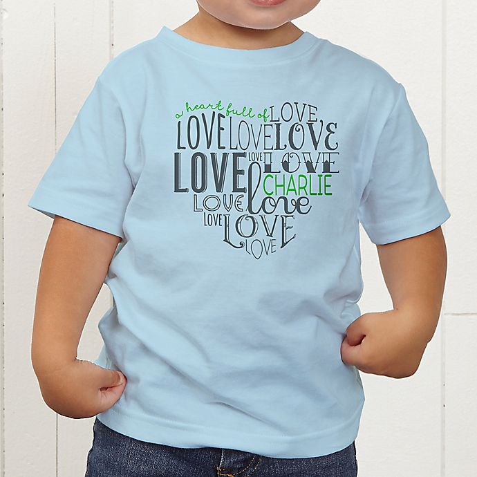 Alternate image 1 for A Heart Full Of Love Personalized Toddler T-Shirt
