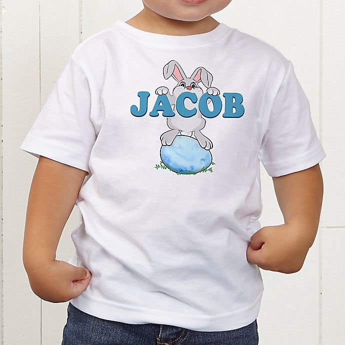 Alternate image 1 for Bunny Love Personalized Toddler T-Shirt