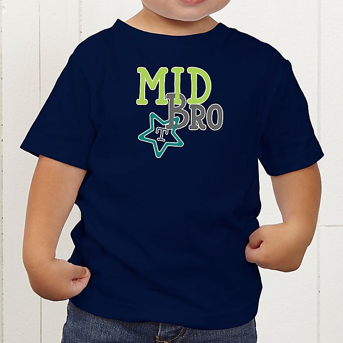 Alternate image 1 for Big/Mid/Lil Sibling Personalized Toddler T-Shirt