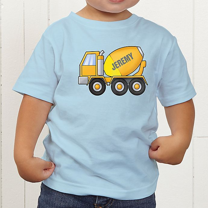 Alternate image 1 for Construction Trucks Personalized Toddler T-Shirt