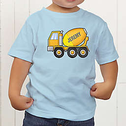 Construction Trucks Personalized Toddler T-Shirt