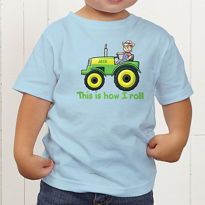 Alternate image 1 for Tractor Time Personalized Toddler T-Shirt
