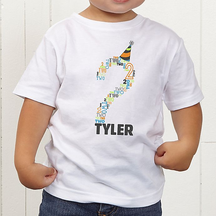 Alternate image 1 for It's My Birthday Personalized Toddler T-Shirt