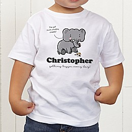 Lovable Elephant Personalized Toddler T-Shirt