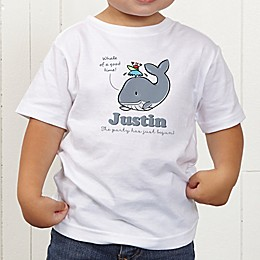 Lovable Whale Personalized Toddler T-Shirt