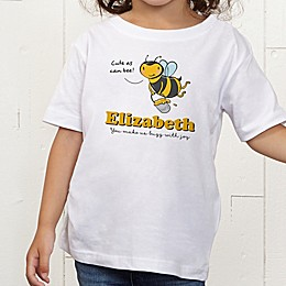 Lovable Bee Personalized Toddler T-Shirt