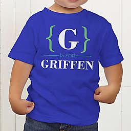 Name Bracket Personalized Toddler T-Shirt