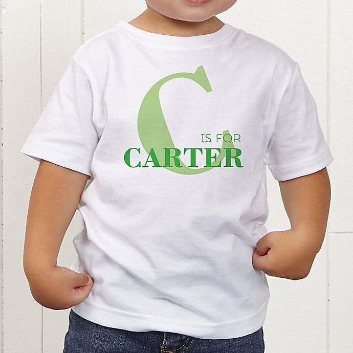 Alternate image 1 for Alphabet Fun Personalized Toddler T-Shirt