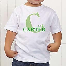 Alphabet Fun Personalized Toddler T-Shirt