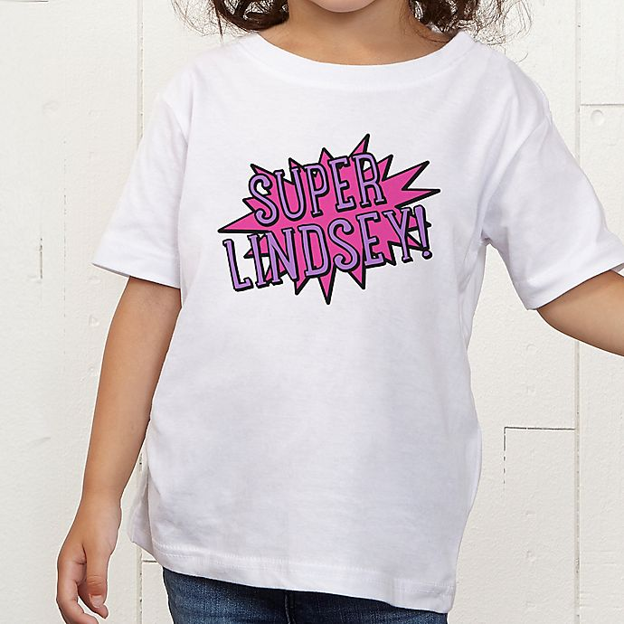 Alternate image 1 for Super Hero Personalized Toddler T-Shirt