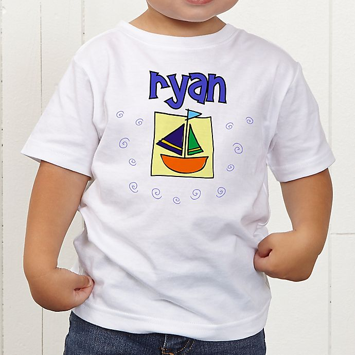 Alternate image 1 for He's All Boy Personalized Toddler T-Shirt