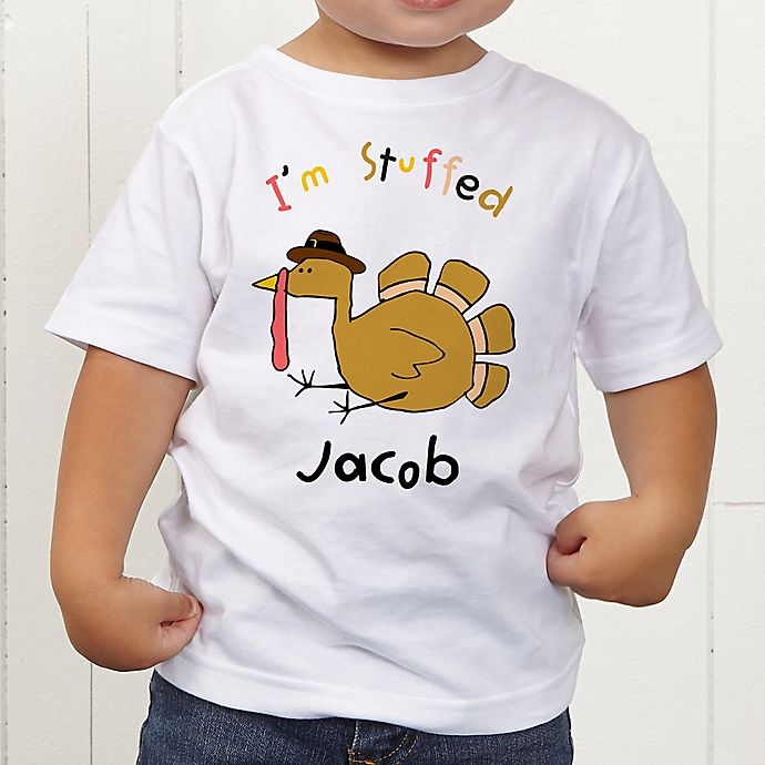 Alternate image 1 for I'm Stuffed Personalized Toddler T-Shirt